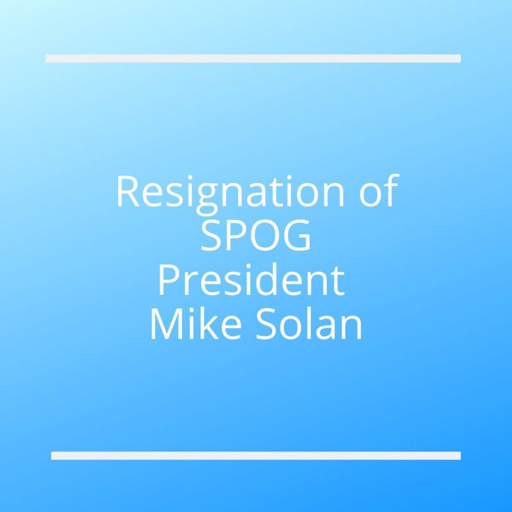 Resignation of Mike Solan